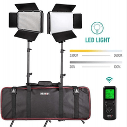 Viltrox VL-60 Bi-2 Kit de 2 Panel Led Bi-Color 60W/6324LM Regulable 3300K-5600K LED CRI 95+