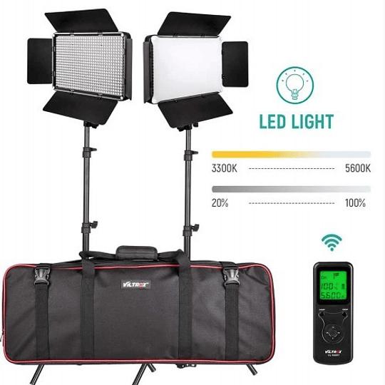 Viltrox VL-60 Bi-2 Kit de 2 Panel Led Bi-Color 60W/6324LM Regulable 3300K-5600K LED CRI 95+ - Image 1