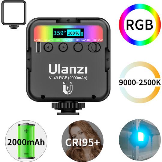 Ulanzi VL-49 Mini LED RGB Recargable para Smartphone y Mirrorless - Image 9