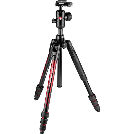 Manfrotto Befree Advanced Travel con Cabezal de Bola 494 (Twist Locks, Red)