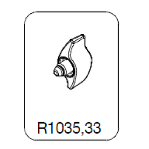 Manfrotto R1035,33 Knob Botón de Bloqueo para Trípodes y Cabezales