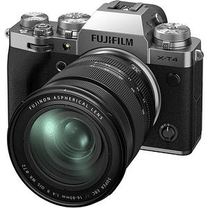 FUJIFILM X-T4 Mirrorless Cámara Digital con Lente 16-80mm f/4 R OIS WR (Silver)