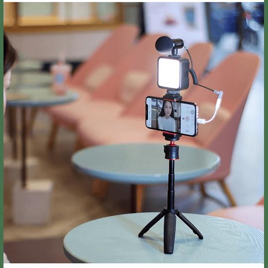 Ulanzi VLOGKIT Kit de Trípode + Luz Led y Soporte de Smartphone para Teletrabajo - Image 3