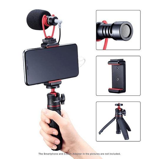 Ulanzi VIDEOKIT Kit de Trípode + Micrófono y Soporte de Smartphone para Teletrabajo - Image 2