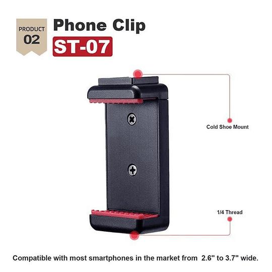 Ulanzi VIDEOKIT Kit de Trípode + Micrófono y Soporte de Smartphone para Teletrabajo - Image 4