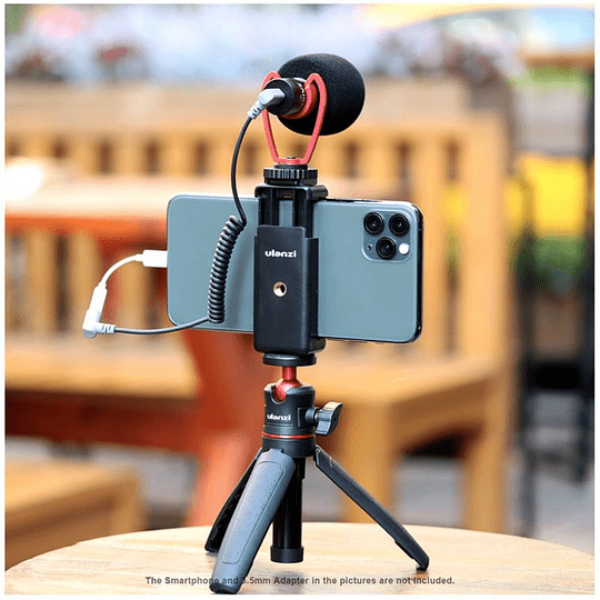 Ulanzi VIDEOKIT Kit de Trípode + Micrófono y Soporte de Smartphone para Teletrabajo - Image 7