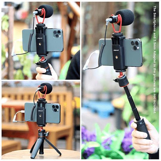 Ulanzi VIDEOKIT Kit de Trípode + Micrófono y Soporte de Smartphone para Teletrabajo - Image 8