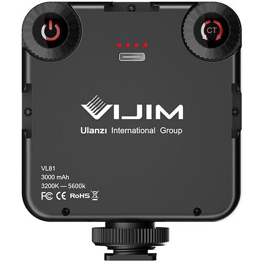 VIJIM VL81 Luz LED de Video Recargable Tº de Color 3200 a 5500K - Image 3