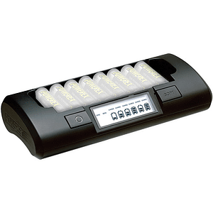 Powerex MH-C801D Cargador Rápido Inteligente para 8 Pilas AA / AAA NiMH / NiCD