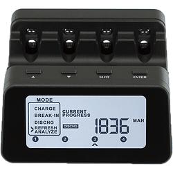 Powerex C9000Pro Cargador Analizador Profesional para 4 Pilas