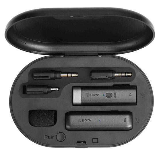 BOYA BY-WM3D Sistema de Micrófono Digital True-Wireless para iOS, Cámaras y Smartphones (2.4 GHz) - Image 2