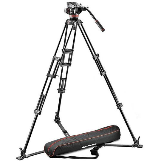 Kit de Vídeo Profesional Manfrotto 546GB + Cabezal MVH502A (502HD) + Bolso de Transporte - Image 1