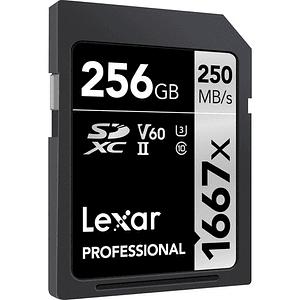 Lexar 256GB Professional 1667x UHS-II U3 SDXC V60 250MB/S Tarjeta de Memoria 4K