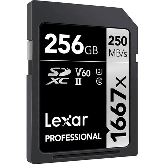 Lexar 256GB Professional 1667x UHS-II SDXC Tarjeta de Memoria - Image 1