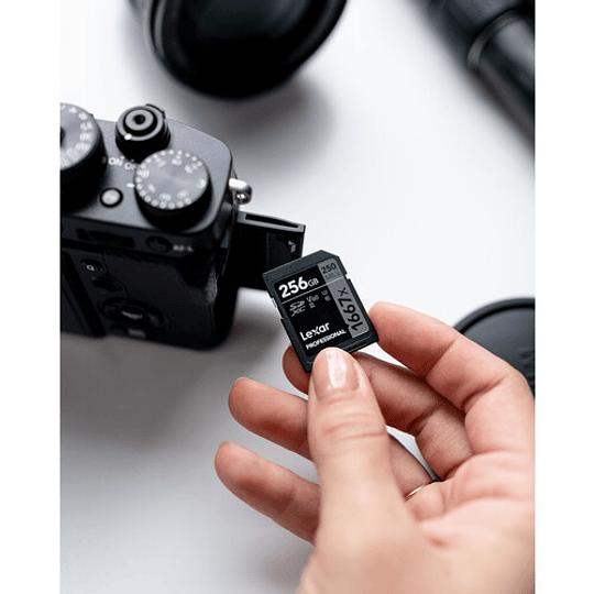 Lexar 256GB Professional 1667x UHS-II SDXC Tarjeta de Memoria - Image 5