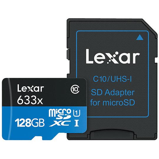 Lexar 128GB High-Performance 633x UHS-I microSDXC Tarjeta de Memoria con Adaptador SD - Image 2