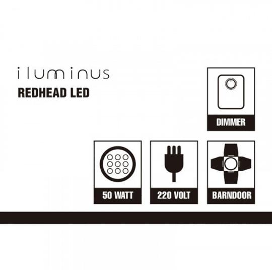 Iluminus Redhead Led Cabezal Tipo Fresnel De Luz Led de 55W - Image 7