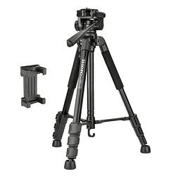 BENRO T899EX Kit Trípode de Aluminio + Cabezal + Bolso + Clip y Control Remoto para Smartphone