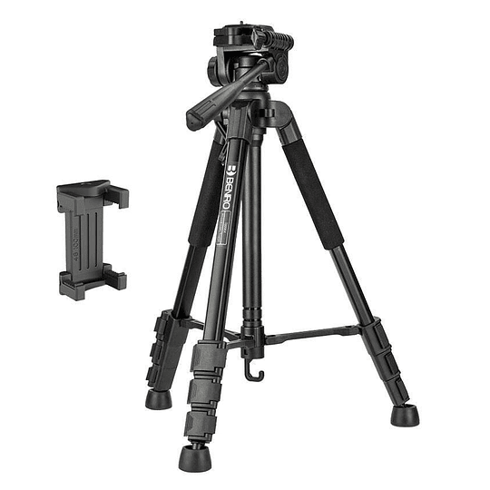 BENRO T899EX Kit Trípode de Aluminio + Cabezal + Bolso + Clip y Control Remoto para Smartphone - Image 1