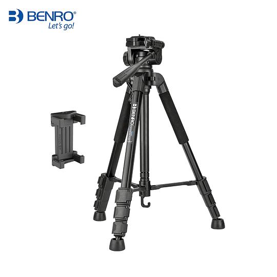BENRO T899EX Kit Trípode de Aluminio + Cabezal + Bolso + Clip y Control Remoto para Smartphone - Image 6