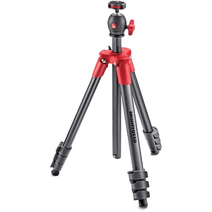 Manfrotto Compact Light Red Trípode de Aluminio