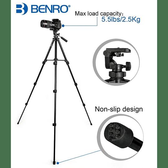 Benro T560 Trípode Básico Universal para Fotografía y Video - Image 2
