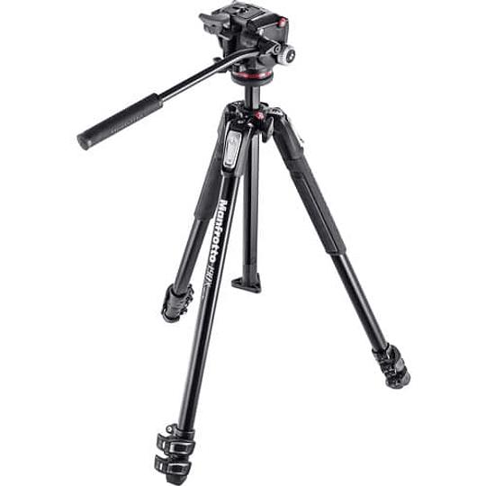 Kit de Vídeo Manfrotto MK190X3-2W con Cabezal Fluido - Image 1