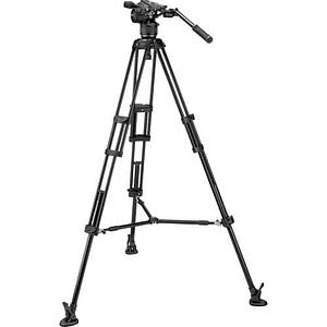 Kit de video Manfrotto Nitrotech Cabezal N8 y trípode 546B Pro con esparcidor de nivel medio / MVKN8TWINM