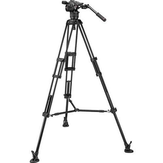 Kit de video Manfrotto Nitrotech Cabezal N8 y trípode 546B Pro con esparcidor de nivel medio / MVKN8TWINM - Image 1