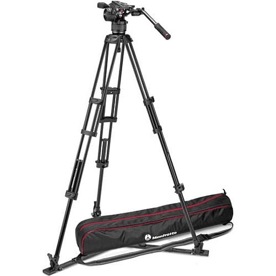 Kit de video Manfrotto Nitrotech Cabezal N8 y trípode Pro 546GB con esparcidor a nivel piso / MVKN8TWING - Image 1