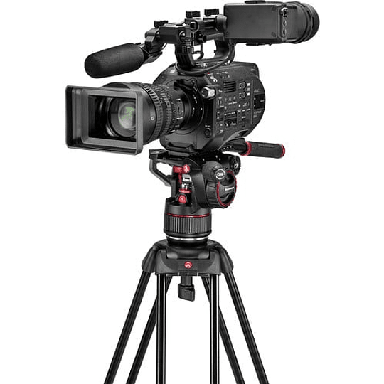 Kit de video Manfrotto Nitrotech Cabezal N8 y trípode 546B Pro con esparcidor de nivel medio / MVKN8TWINM - Image 3