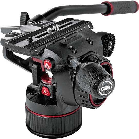 Kit de video Manfrotto Nitrotech Cabezal N8 y trípode 546B Pro con esparcidor de nivel medio / MVKN8TWINM - Image 5