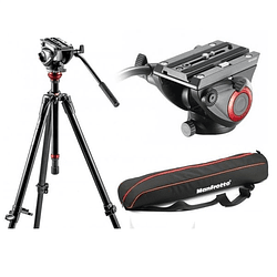 Kit de Vídeo Profesional Manfrotto 755XBK + Cabezal MVH500AH + Bolso