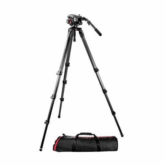 Kit profesional Manfrotto, Cabezal 504HD + Trípode Fibra de Carbono 536 - Image 1