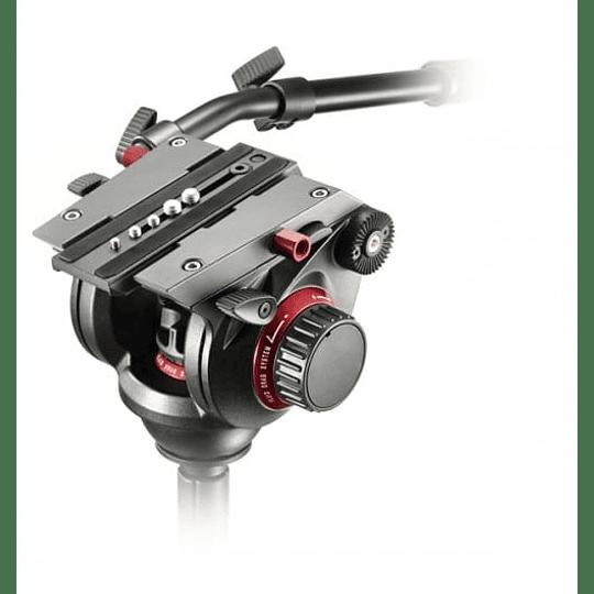 Kit profesional Manfrotto, Cabezal 504HD + Trípode Fibra de Carbono 536 - Image 5