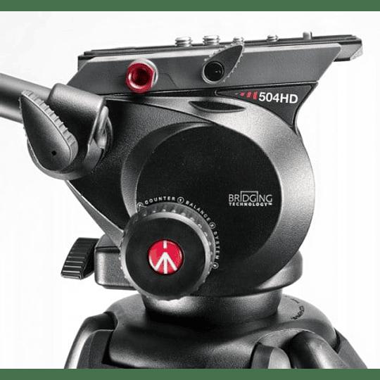 Kit profesional Manfrotto, Cabezal 504HD + Trípode Fibra de Carbono 536 - Image 6