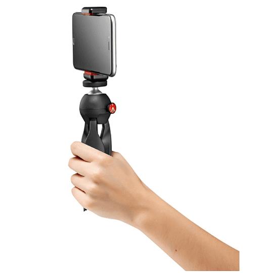 Manfrotto MKPIXICLAMP-BK Mini Trípode Pixi Black + Soporte Smartphone - Image 3