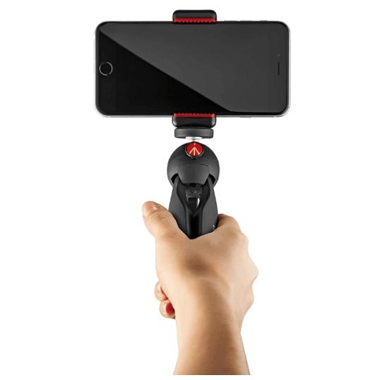 Manfrotto MKPIXICLAMP-BK Mini Trípode Pixi Black + Soporte Smartphone - Image 4