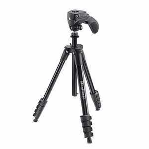Manfrotto Compact Action Black Trípode de Aluminio