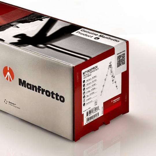Trípode Manfrotto MT190CXPRO4 de Fibra de Carbono de 4 Secciones - Image 4