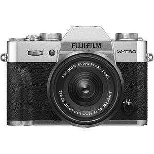 Fujifilm X-T30 Kit Cámara Mirrorless con Lente XC 15-45mm f/3.5-5.6 OIS PZ (Silver)