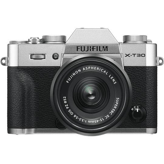Fujifilm X-T30 Kit Cámara Mirrorless con Lente XC 15-45mm f/3.5-5.6 OIS PZ (Silver) - Image 1