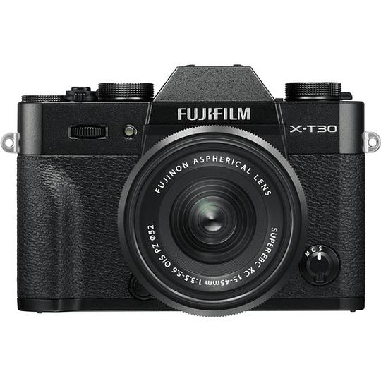 Fujifilm X-T30 Kit Cámara Mirrorless con Lente XC 15-45mm f/3.5-5.6 OIS PZ (Black) - Image 1
