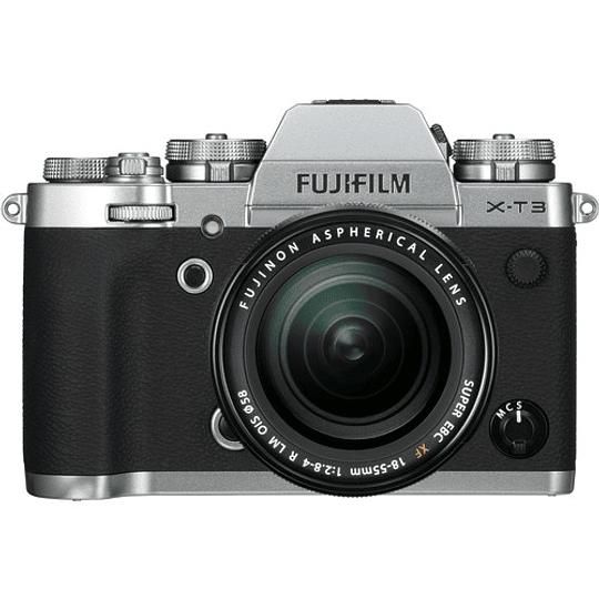 Fujifilm X-T3 Kit Cámara Mirrorless con Lente XF 18-55mm f/2.8-4 R LM OIS (Silver) - Image 1