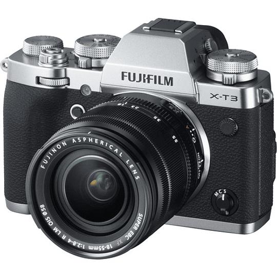Fujifilm X-T3 Kit Cámara Mirrorless con Lente XF 18-55mm f/2.8-4 R LM OIS (Silver) - Image 2