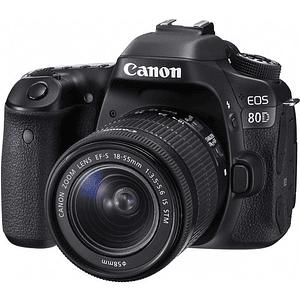 Canon cámara EOS 80D con lente 18-55mm