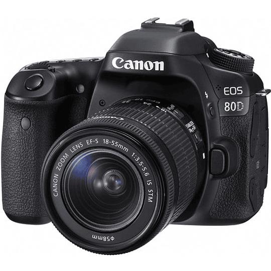 Canon cámara EOS 80D con lente 18-55mm - Image 1