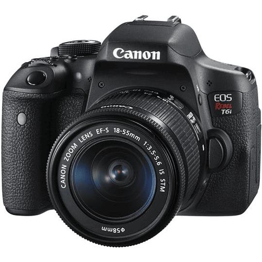 Canon cámara EOS Rebel T6i con lente 18-55mm - Image 1