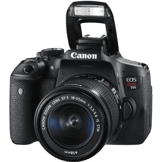 Canon cámara EOS Rebel T6i con lente 18-55mm - Image 2