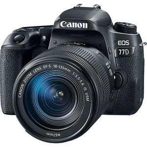 Canon EOS 77D DSLR Cámara con Lente 18-135mm USM